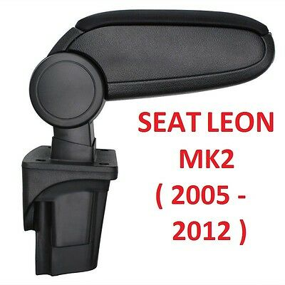 Brand New Seat Leon Mk2 Ii 1P (2005-2012) Centre Console Armrest Black Uk Stock!
