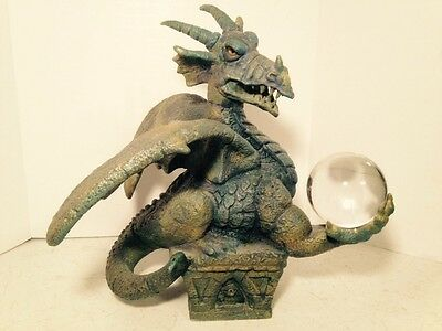 Franklin Mint Dragon Of Destiny Collectible Mythical Gothic Mid Evil Decor
