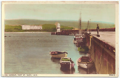 Isle of Man Manx Printed PC The Harbour Port St Mary