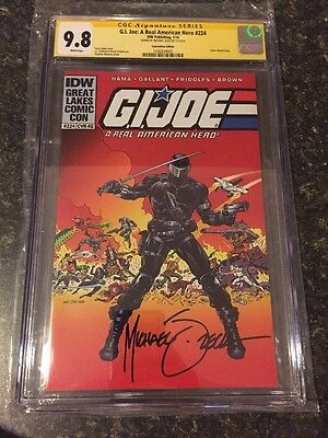 GI-Joe #224 Secret Wars 8 Rare Spoof Cover CGC 9.8 Signd Zeck Convention Edition