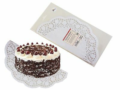 Cake top White rund 28cm, 6 Piece/Packung Food Papier Deco lace