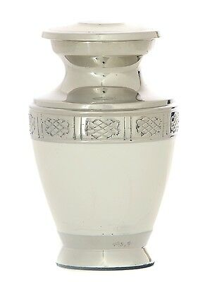 Mini cremation urn for ashes, Small Funeral memorial Remembrance Keepsake White
