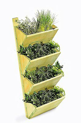 4Tier Wooden Shelf Planter, Wall Hanging Growhouse,Herb Planter,seeds,rack,home,
