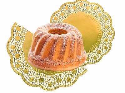 Cake top Gold round 36 cm, 4 Stück/Pack Food Paper Decoration lace gold