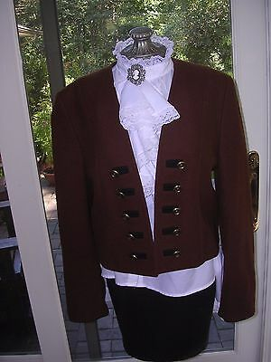 WOMENS GERMAN COSTUME dirndl  Austrian  Brown Wool Jacket  size small