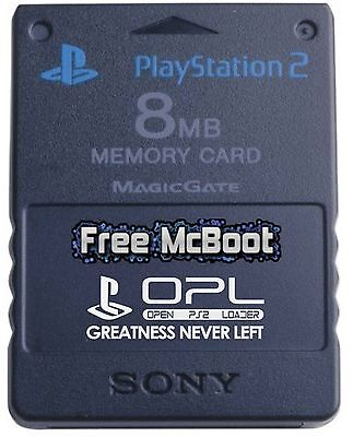 Playstation 2 PS2 FMCB Free McBoot Memory Card SCPH-10020