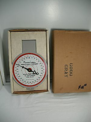 Vintage American Family 60 LB. Produce Hanging Scale in original box