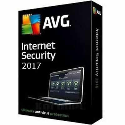 AVG Internet Security 2017 For 1 PC 12 Month Licience 1 User 2017