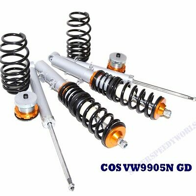 Gold Suspension Coilover Set for 98-05 VW Jetta Beetle 99-05 VW Golf/ MK4 ONLY