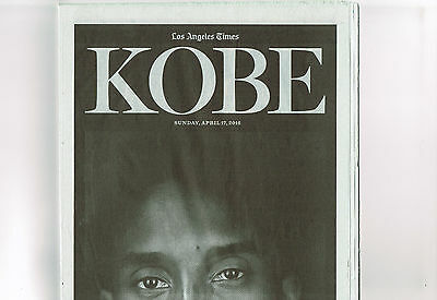 2016 April 17, Los Angeles Times Newspaper-LA Lakers, Kobe Bryant, Special