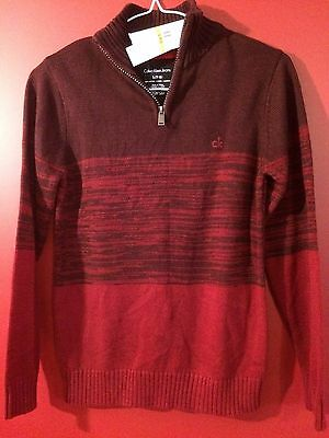 CALVIN KLEIN Women's Biking Red Knit Sweater - Size Small (8) - NWT