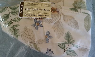 Longaberger Liner in Botanical Fields for Medium Crescent & Heritage Days basket