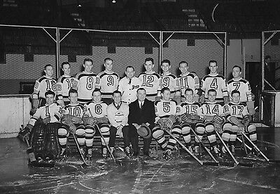 BOSTON BRUINS STARS DIT CLAPPER AND MARTY BERRY HAVE CLINIC FOR FANS 8x10