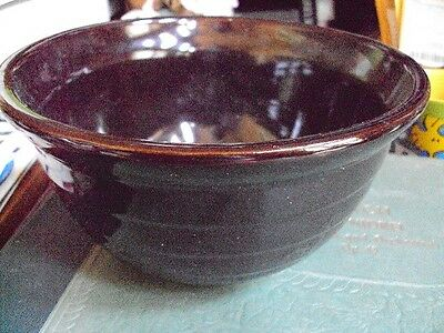 Vintage Brown Mixing Bowl Unmarked Excellent  Condition