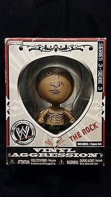The Rock Vinyl Aggression Series 3 Wwe 3 Inch  Figure Jakks Pacific