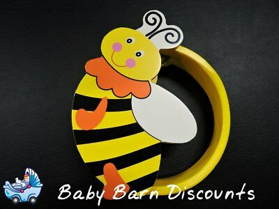 NEW Wooden Bumblebee Tambourine 15 cm from Baby Barn Discounts
