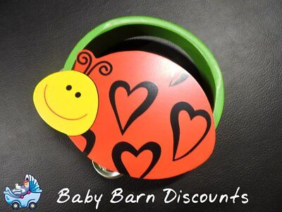 NEW Wooden Ladybird/ Ladybug Tambourine 15 cm from Baby Barn Discounts