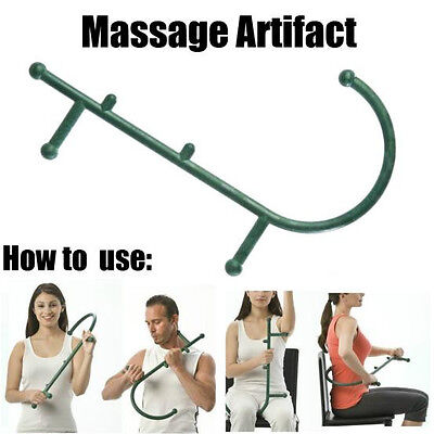 Thera Cane Deep Pressure Massager Self Massager and Manual Green KW