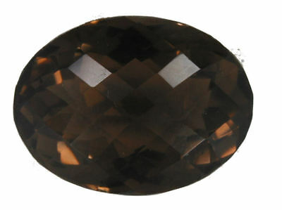 Exquisite 59.41 Carat Oval Checkerboard Cut Smokey Quartz