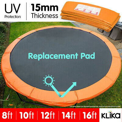 REPLACEMENT TRAMPOLINE PAD REINFORCED OUTDOOR ROUND SPRING COVER 8 10 12 14 16ft
