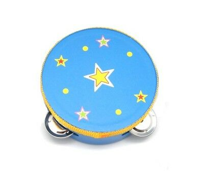 NEW Wooden Star Blue Small Tambourine 10.5 cm from Baby Barn Discounts