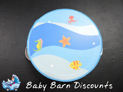NEW Wooden Marine Life Blue Small Tambourine 10.5 cm from Baby Barn Discounts