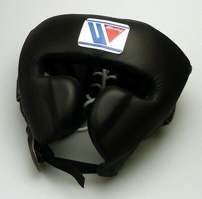Winning Boxing Headgear FG-2900 Size L Face Guard Type Black Japan Fast Shipping