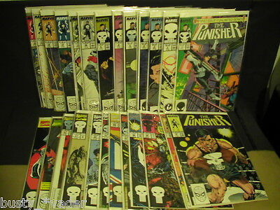 The Punisher #1-22 Complete #50,62-69,81 Ann. #1,3,5 1987  Lot of 35