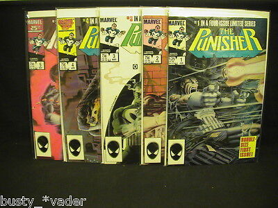 The Punisher #1,2,3,4,5 Complete set Mini-series 1985  Lot of 5 daredevil