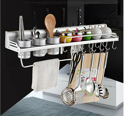 Kitchen Knife Dish Cup Drying Rack Wall Mounted Rack