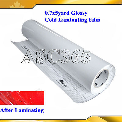 Glossy Cold Laminating Film 0.69x5Yard For Cold Laminator Small Roll