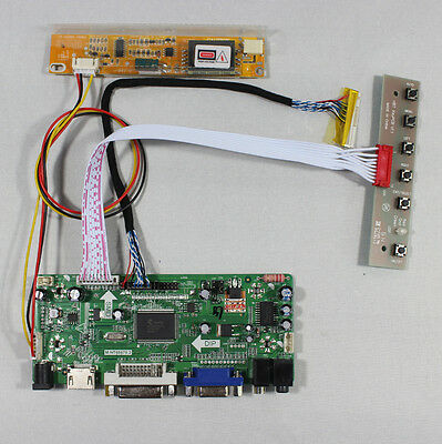 LCD Controller driver board Kit HDMI DVI VGA Monitor for LP154WX4-TLC8 panel