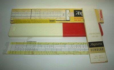 vintage GERMAN SLIDE RULE ARISTO 0903 Scholar GERMANY With Case and Original Box