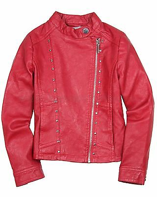 59b3fa78f Mayoral Junior Girl's Pleather Jacket Red, Sizes 8-18