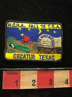 Vtg. Fall 1979 NCHA TSA DECATUR Texas Patch IN THE GOOD OLD DAYS ~ Camper 69C1