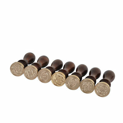 WL New Sealing Wax Classic Initial Wax Seal Stamp Alphabet Letter 26 Retro Wood