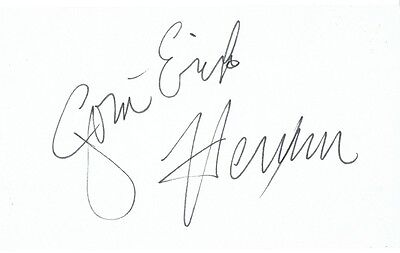 JON ERIK HEXUM - Signed  card.
