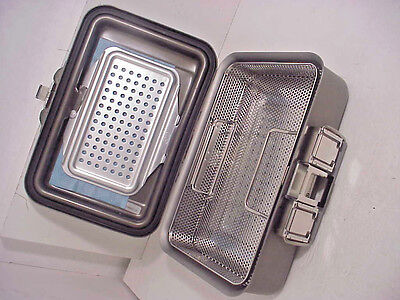 """V.MUELLER Genesis CD0-4B Sterilization Containers & Basket 4"""" Deep Perforated"""