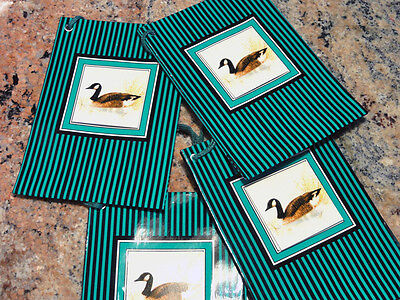 New Beautiful Canadian Goose Gift Bags with Gift Tags set of 4 Enesco 1986
