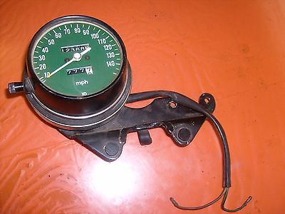 OEM 1976 Honda CB750F Super Sport spedometer  green back ground