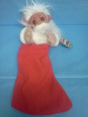 """Vintage Smithy Norfin Troll Christmas Stocking New With Tag 17"""""""