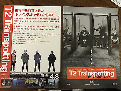 TRAINSPOTTING 2 Japan 2017 flyer poster Ewan MacGregor Danny Boyle Irvine Welsh