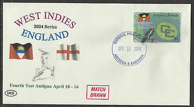 ANTIGUA 2004 WEST INDIES v ENGLAND 4th Test Match DKS Souvenir Cover.