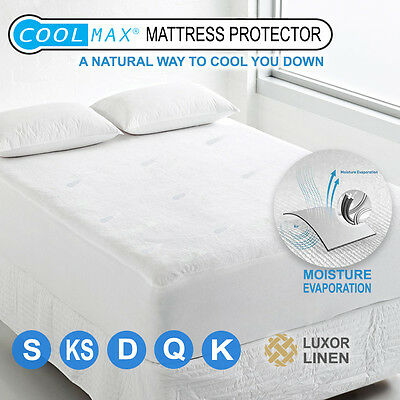 All Size Fully Fitted Coolmax Mattress Protector Cover Cool Summer Pad Top
