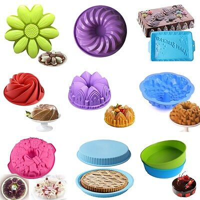 26 Styles Silicone Cake Mold Pan Muffin Pizza Pastry Baking Tray Mould Bakeware
