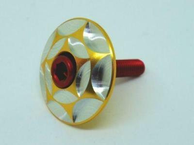 """XON FULL CNC Machined Headset Top Cap For fork 1-1/8"""" Fork Tube """"Gold/Silver"""""""