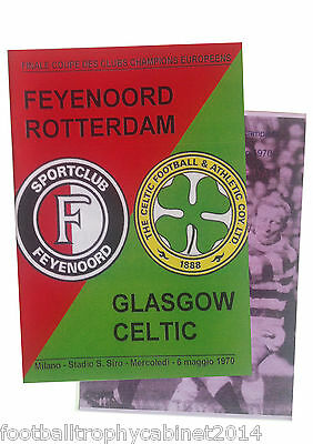 1970 European Cup Final Programme Feyenoord vs Celtic Two Different Issues