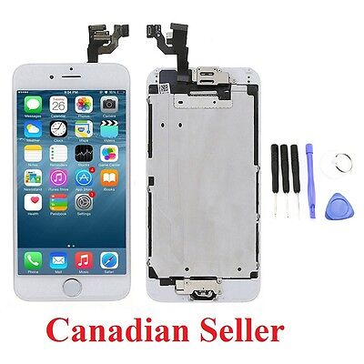 "White LCD Touch Screen Display Digitizer Assembly for iPhone 6 4.7"" Home Button"