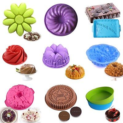 Silicone Bread Mold Cake Muffin Non Stick Baking Bakeware Mold Tray Pan Kitchen