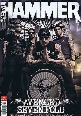 AVENGED SEVENFOLD / TONY IOMMI / CHRISTOPHER LEE Metal Hammer no. 206 Jul 2010